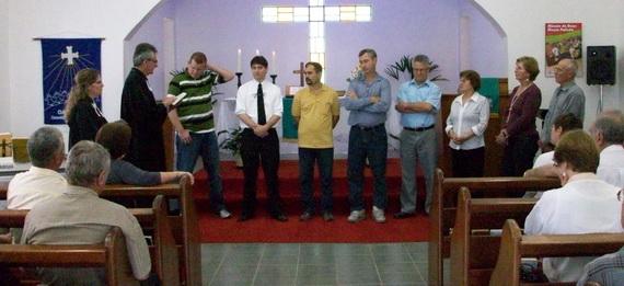 Posse da diretoria da paróquia