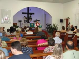 Pastor Eli Müller (IELB) pregando